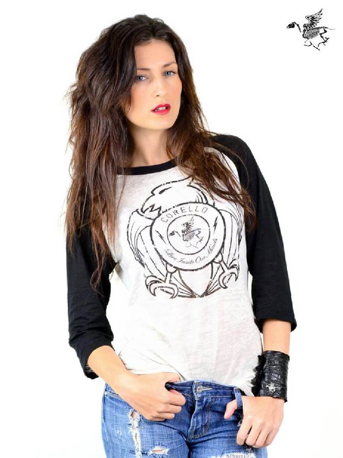Corello Freedom Eagle Logo Live Inside Our Minds Slogan Unisex Raglan T-shirt