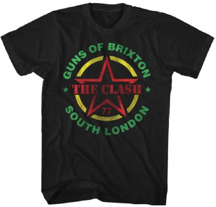 The Clash Guns of Brixton Men's Black Vintage Concert T-shirt