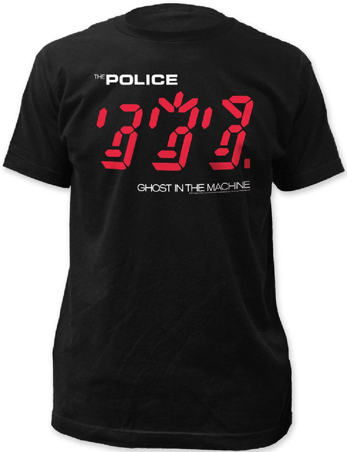 The Police Ghost in the Machine Album Cover Artwork Men's Black T-shirt