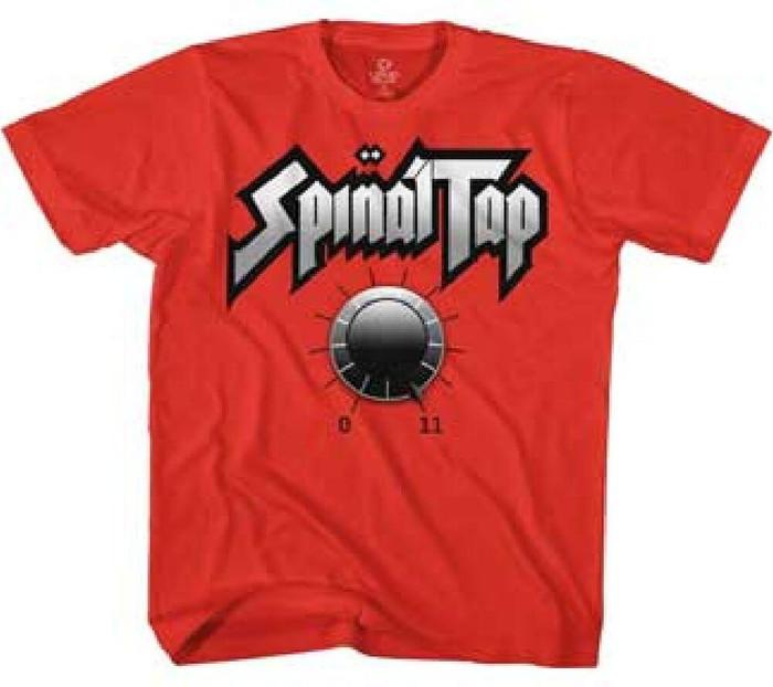 Spinal Tap Amplifier Knob Reaching 11 Men's Red T-shirt
