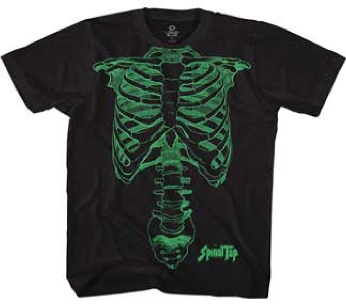 Spinal Tap Skeleton Drawing as Seen on Nigel Tufnel Men's Black T-shirt