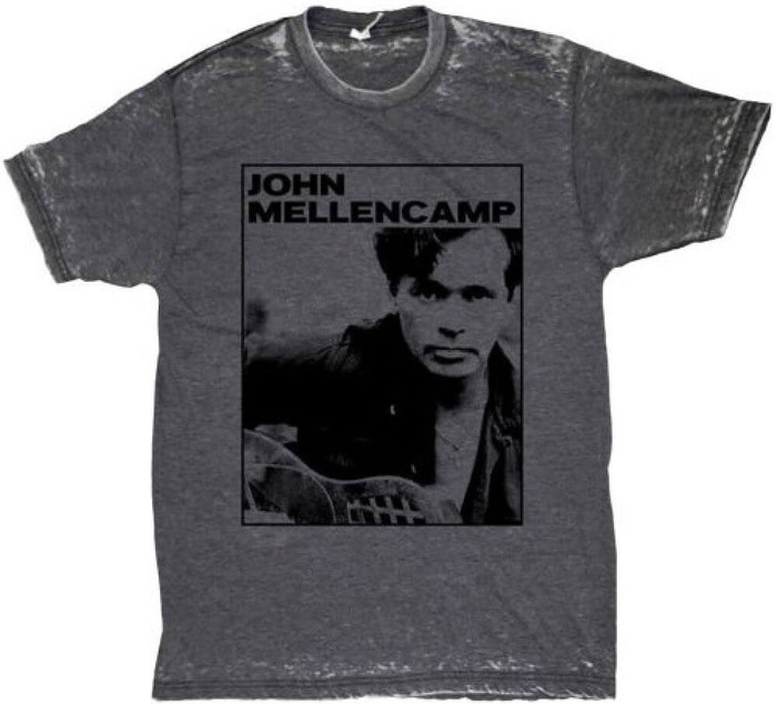 John Mellencamp Classic Photograph Men's Gray Vintage T-shirt