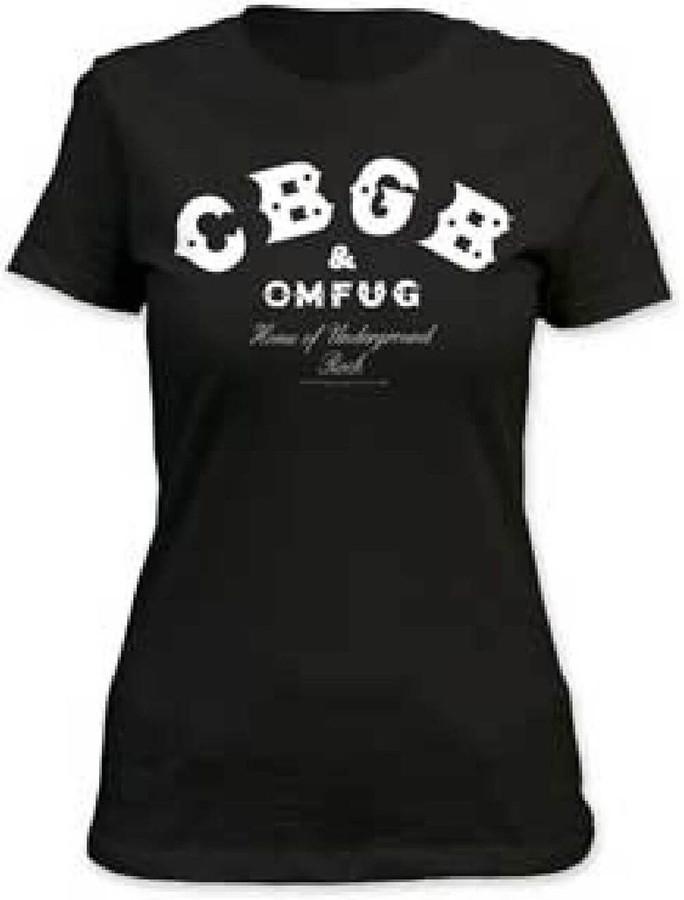 CBGB & Omfug Home of Underground Rock Logo Women's Black T-shirt