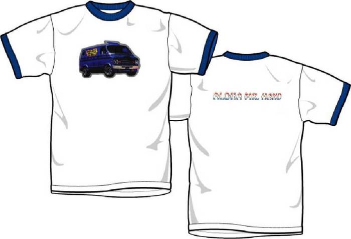 Beastie Boys Retro Custom Van Logo with Aloha Mr. Hand Men's White Vintage T-shirt
