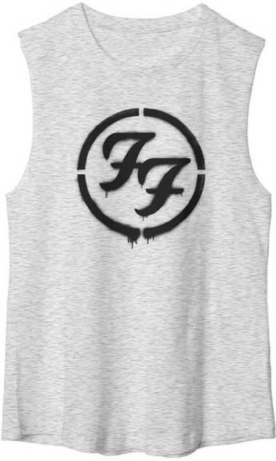 Foo Fighters FF Logo Women's Gray Sleeveless Muscle T-shirt