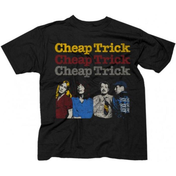Cheap Trick World Tour 1978 Men's Unisex Black Vintage Fashion Concert T-shirt - front