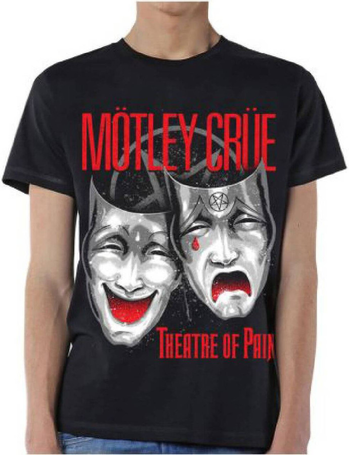 Motley Crue Theatre of Pain Men's Black T-shirt