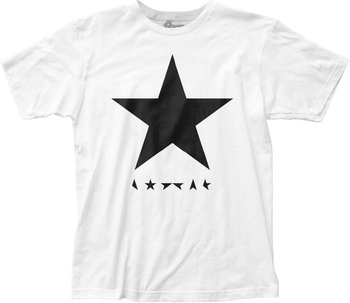 David Bowie Blackstar Album Cover Artwork Men's White T-shirt