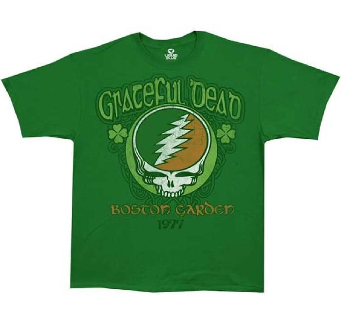 Grateful Dead Boston Garden 1977 Men's Green Vintage Concert T-shirt