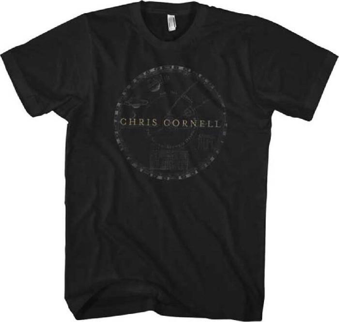 Chris Cornell Solar System Logo Men's Black T-shirt