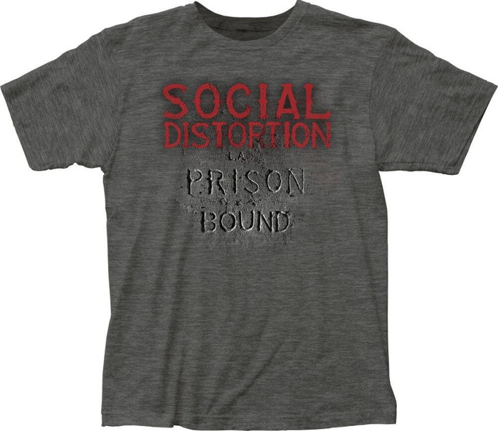 Social Distortion Prison Bound Album Cover Artwork Men's Gray T-shirt