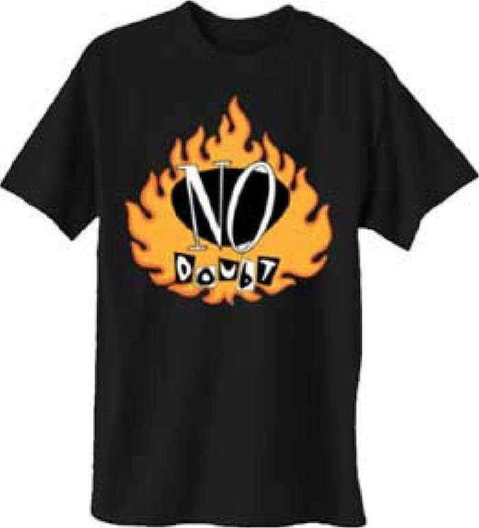No Doubt Flame Logo Men's Black T-shirt