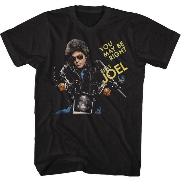 Billy Joel You May Be Right Song Single Album Cover Artwork Men's Unisex Black Fashion T-shirt