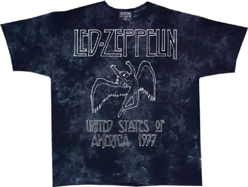 660466f6dc1 Led Zeppelin Vintage Concert T-shirt - United States of America 1977 ...