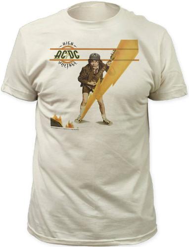 ACDC High Voltage Vintage Album Cover Men/'s T Shirt Metal Rock Band Music Merch