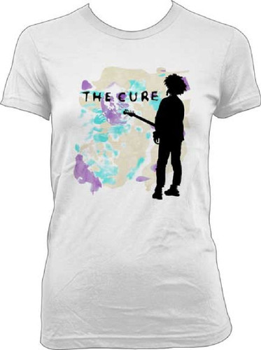 Cure Women's T-shirt - The Cure Boys Don't Cry Song Single Album Cover  Artwork  White Shirt