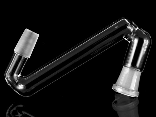 Glassics Side View Affordable Functional Clear Scientific Glass Drop Down Adapter 14mm Male To 14mm Female Reclaim Collector