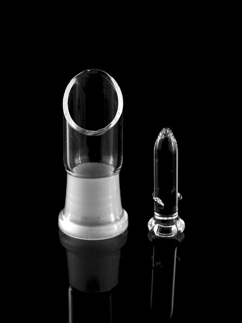 Glassics Standing View Affordable Functional Clear Scientific Glass Dome & Nail 18mm