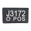 52808 Thin Text IR/LUM Combo Patch