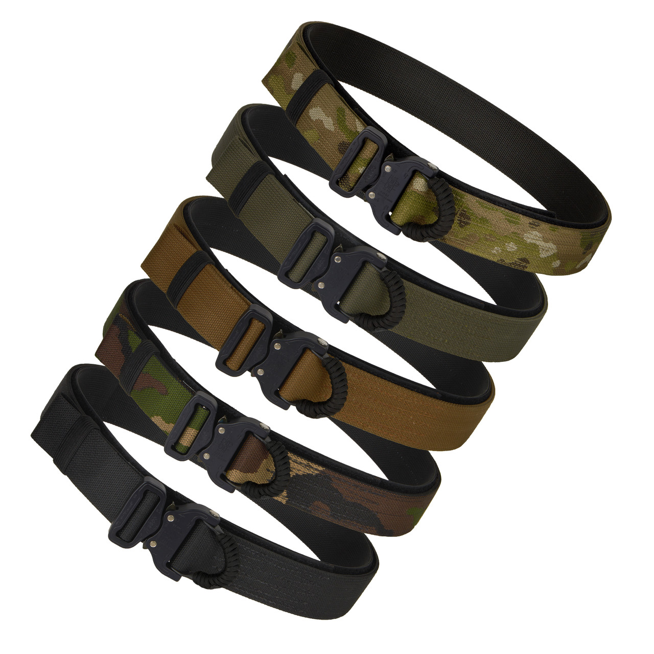 Multicam, ranger green, coyote, woodland and black tactical belt