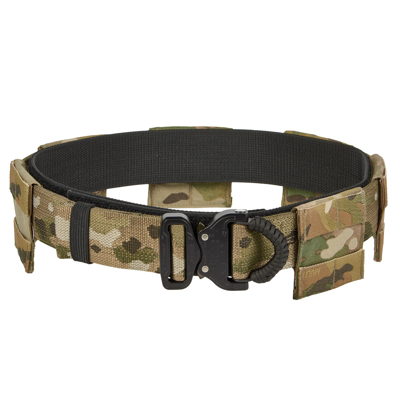 Tactical belt with molle panels
