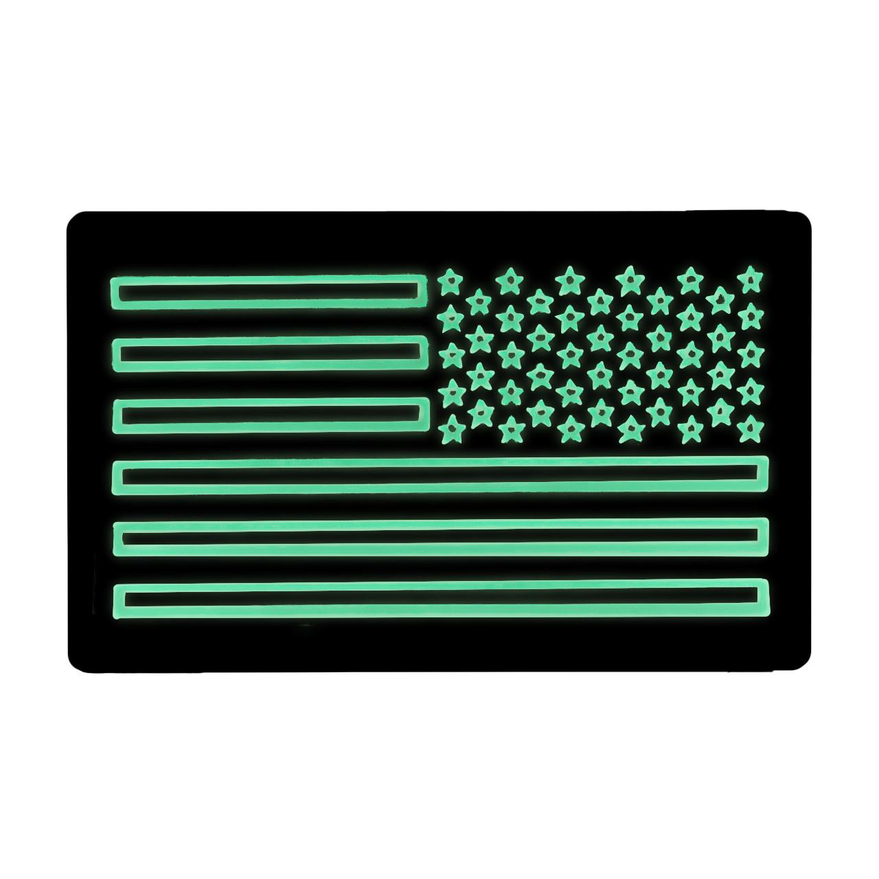 52740 US LARGE FLAG PATCH, IR/LUM, RIGHT HAND