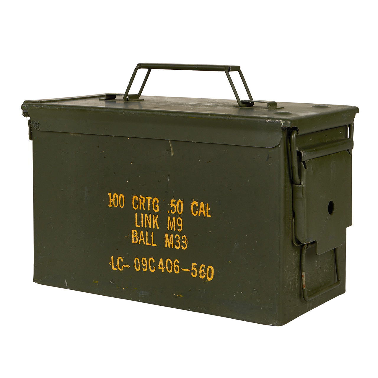 50340 G.I. ISSUE USED .50 CAL AMMO CAN