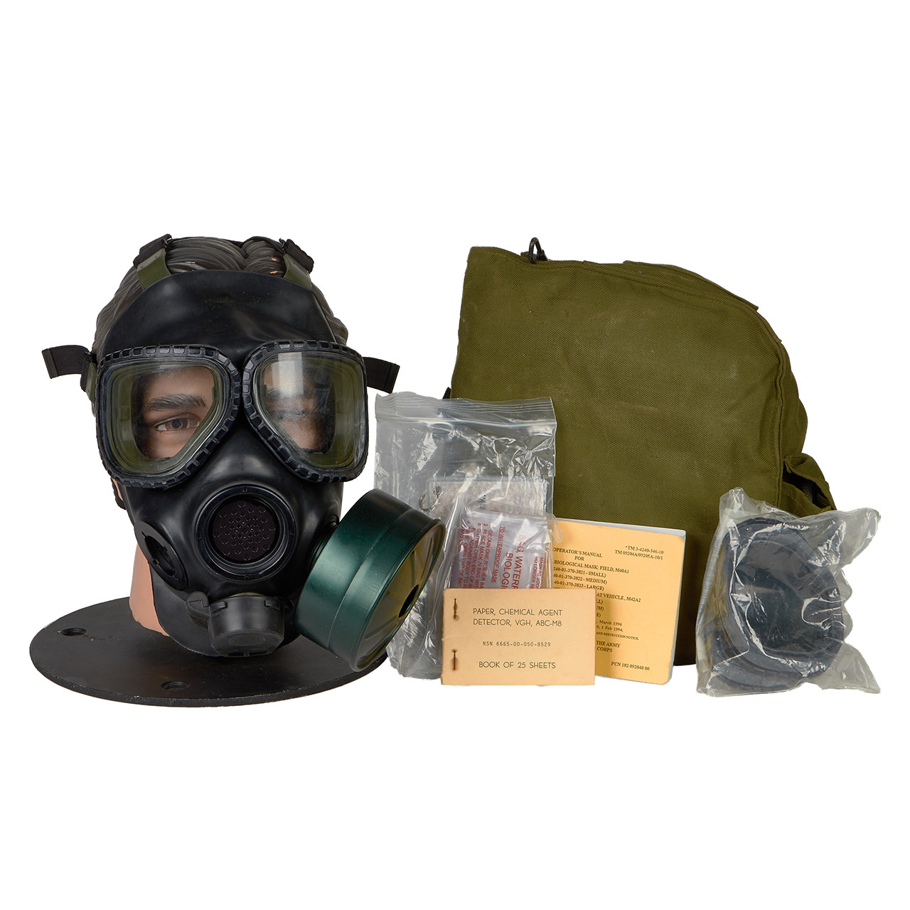 GM74 M40 SERIES G.I. ISSUE GAS MASK
