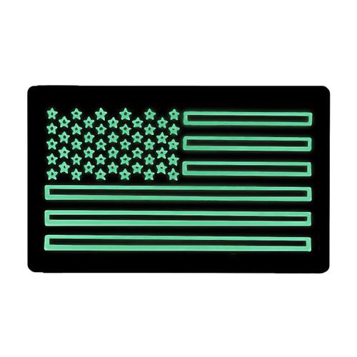 52743 US LARGE FLAG PATCH, IR/LUM, LEFT HAND