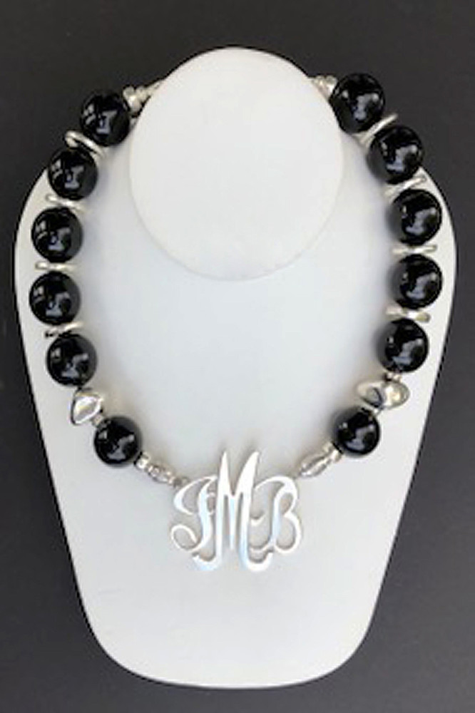 Onyx Necklace Accented with Silver