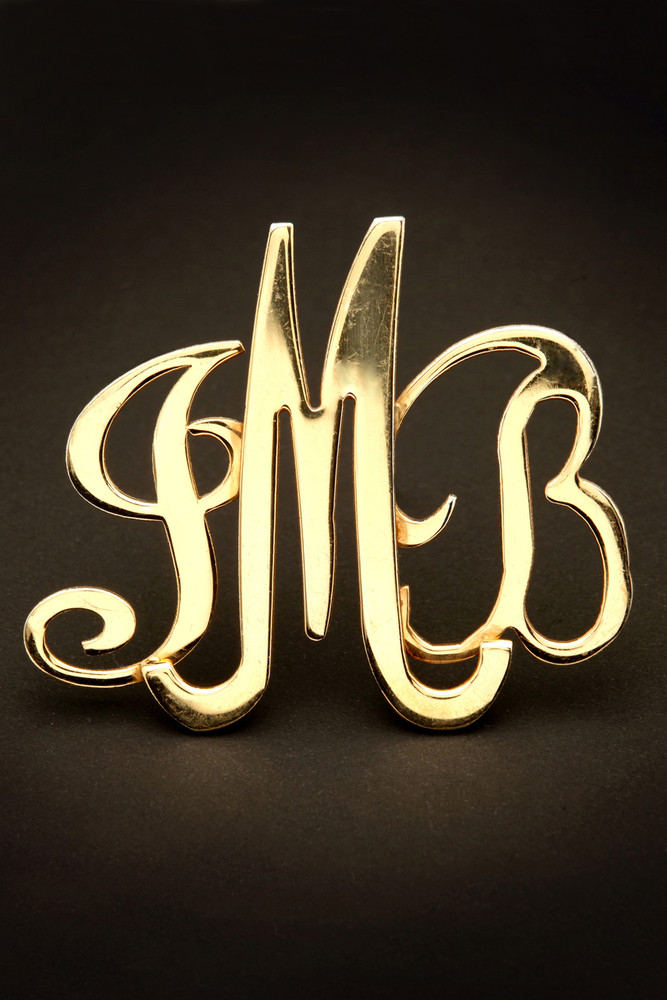 So-U Monogram in Vermeil Gold w/ Magnetic Clasp