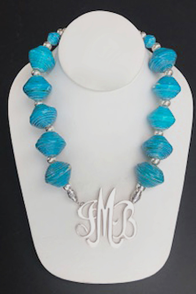 African Blue-Green Necklace
