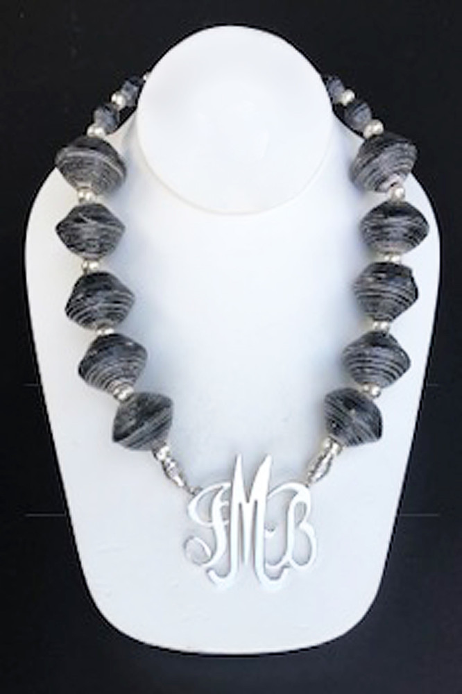 African Charcoal Necklace