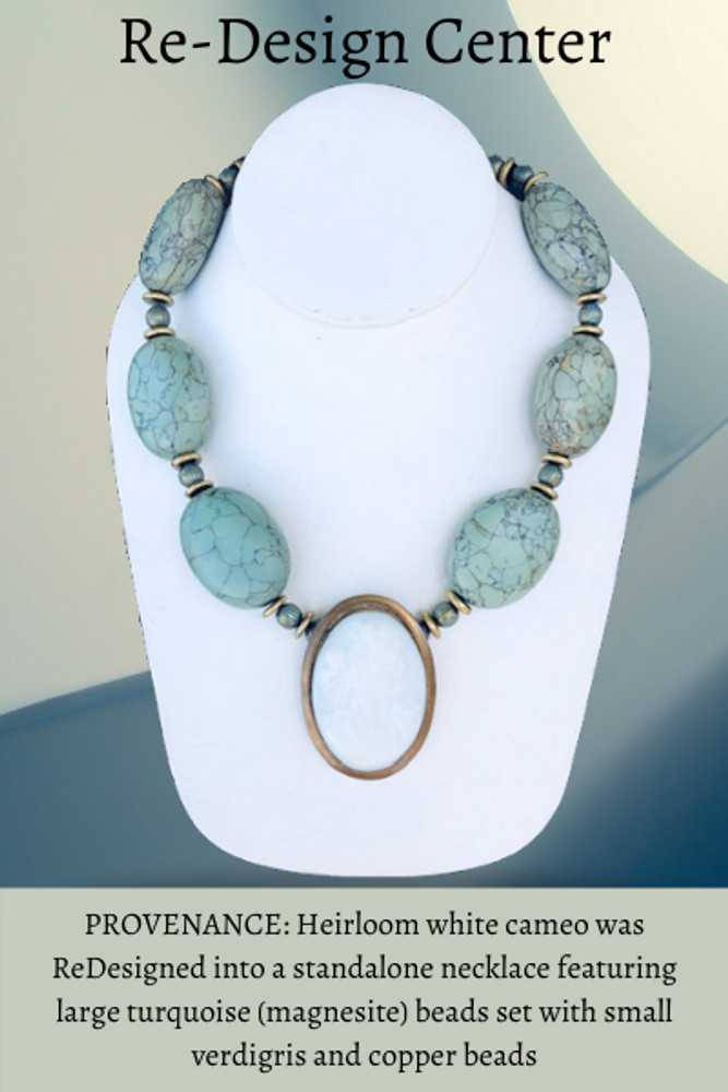 Custom Necklace with White Cameo: NFS