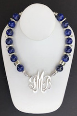 Lapis Lazuli Necklace with Silver