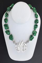Turquoise (Magnesite) Dark Green Nugget Necklace