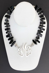 Quartz Necklace, Large Black Chips
