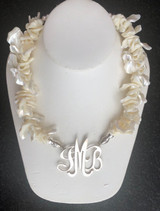Mother of Pearl Ruffle Necklace