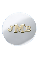Slide: Silver Disc with Gold Monogram