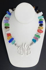 Quartz Necklace, Large Multicolor Chips