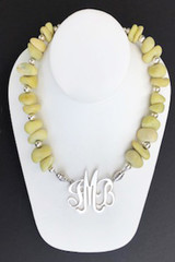 Yellow Jade Nugget Necklace