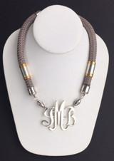 Single Cord Necklace: Gray