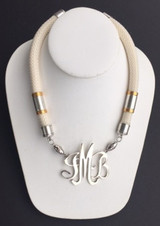 Single Cord Necklace: Ivory (Off White)