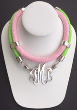 Double Cord: Soft Pink & Lime Green