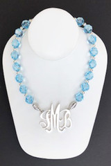 Swarovski Aquamarine Necklace accented with Sterling Silver