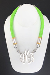 Single Cord Necklace: Lime Green