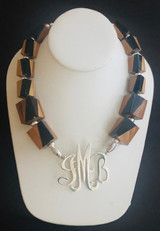 Zsiska Teak/Ebony Cube Necklace