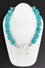 Turquoise (Magnesite) Rondelle Necklace
