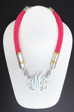 Single Cord Necklace: Hot Pink