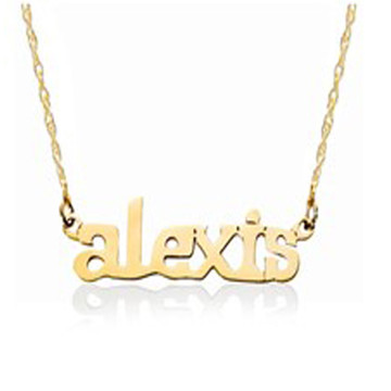 Nameplate Print Lower Case Necklace